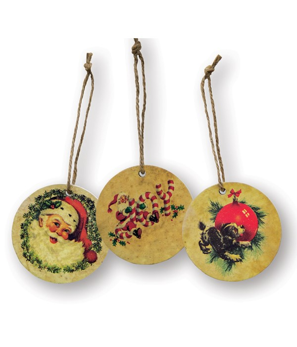 Vintage Christmas Ornament, 3 asstd.