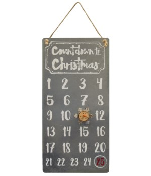 Countdown to Christmas Calendar 12h x 5.75w in.