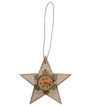 Snowhead Snowflake Star Ornament 3.5 x 3.5 in.