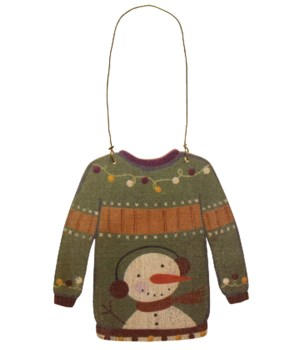 M36 Christmas Sweater Ornament 4.5w x 5 h in.