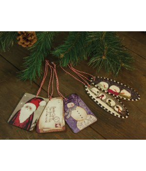5/Set, Dear Santa Christmas Ornament Tags 4.75h 2.25 w in.