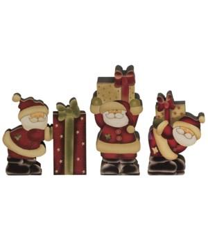 Gift Santa - 3 asstd 6 x 6 in.