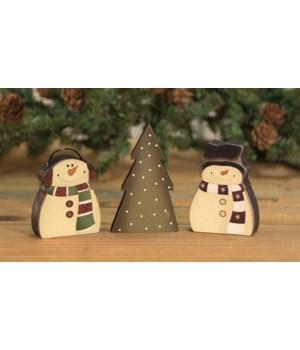 3/Set, Snowman Tree Blocks