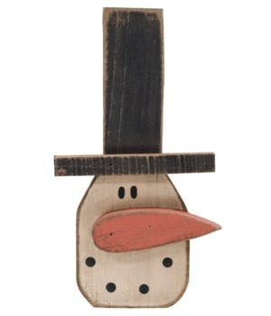 Chunky Hanging Snowman Head 10.5h x 5.25w in.