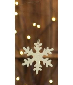 Small Snowflake Ornament 4 in.