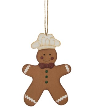 Gingerbread Baker Ornament 5.50 x 4 in.