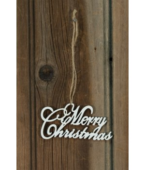24/Set, Merry Christmas Wooden Ornaments 2 x 35 in.