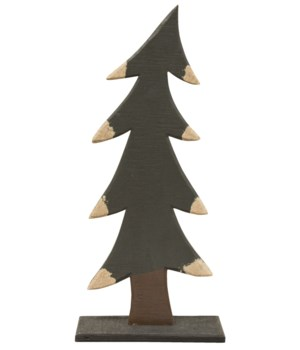 Frosty's Wooden Tree 10h x 4.5 w in.