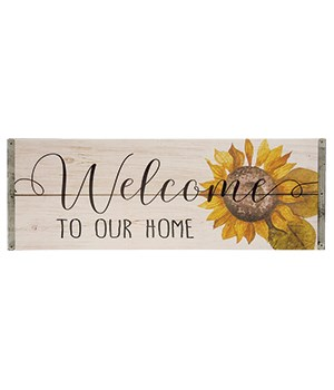 Sunflower Welcome Sign 7h x 18w in.