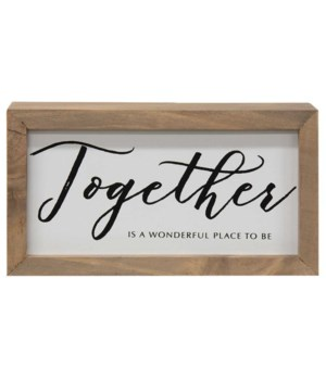 Together is a Wonderful Place Framed Box Sign