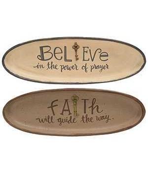 Faith & Believe Tray, 2 asstd.