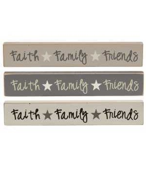 M18 Faith, Family, Friends Farmhouse Colors Mini Stick, 3 Asstd
