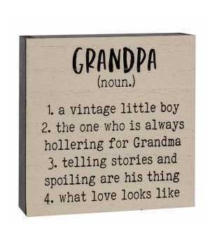 Grandpa Definition Box Sign