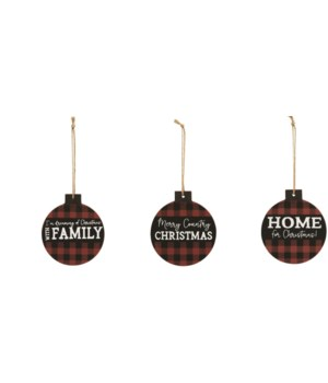 Home For Christmas Ornament, 3 asstd. 43 in.