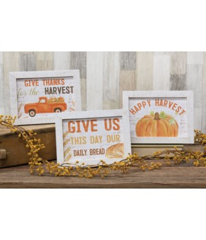 Give Thanks For the Harvest Easel Sign 3 Asstd. .75l x 8w x 6 h in.
