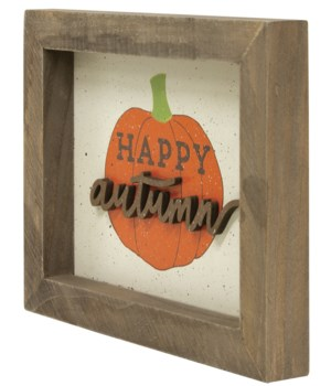 Happy Autumn Framed Sign 6.5  h x 8.25  w x 1  D in.