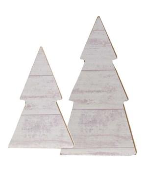 Set/2, White Shiplap Tree Sitters .5 x 2.5 x 4.5 in.