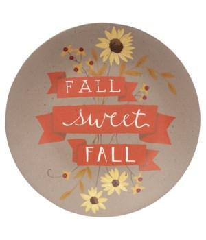 Fall Sweet Fall Plate .75 x 11.5 x 11.5 in.