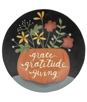 Grace Gratitude Giving Plate .75 x 11.5 x 11.5 in.