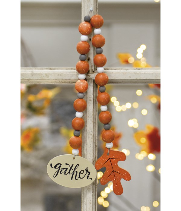 Gather Beaded Ornament .25 x 3 x21 in.