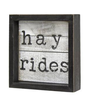Hay Rides Shiplap Framed Sign 1 x 5 x 5 in.