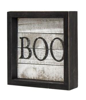 Boo Shiplap Framed Sign 1 x 5 x 5 in.
