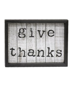 Give Thanks Shiplap Box Sign 1 x 8 x 6 in.