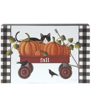 Fall Wagon Box Sign 2 x 14 x 9 in.