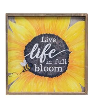 Live Life In Full Bloom Frame 15.75  sq. x 1.25  Dp. in.