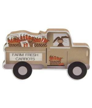 Farm Fresh Carrots Chunky Truck 4.75 l x .75  dp x 2.75h in.