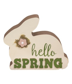 Hello Spring Chunky Bunny 7 l x 1  Dp. x 5 h in.