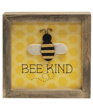 Bee Kind Frame 6 l x 1  w x 6  h in.