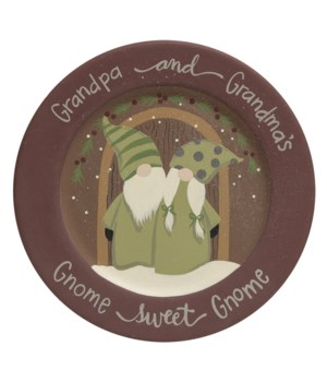 Gnome Sweet Gnome Plate 11 dia x .5  dp in.