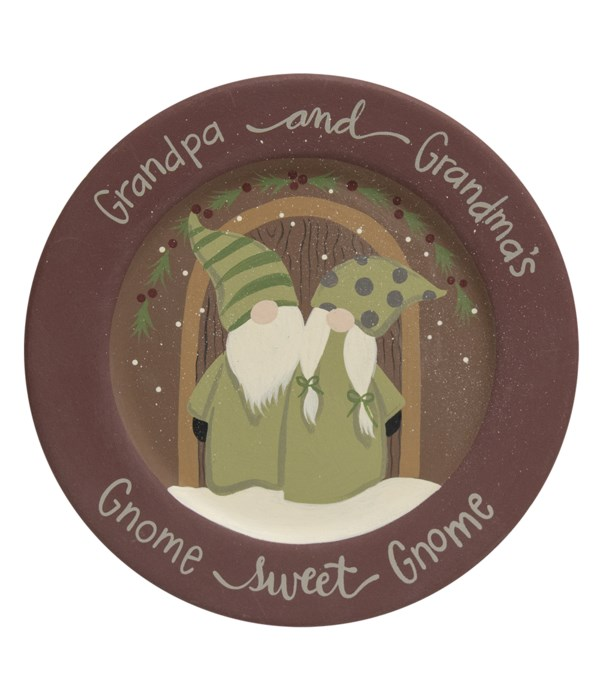 Gnome Sweet Gnome Plate