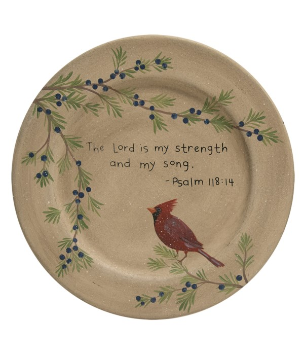 The Lord is My Strength Plate 11 dia x .5  dp in.