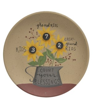 Count Your Blessings Sunflower Plate 11 dia x 1  dp in.