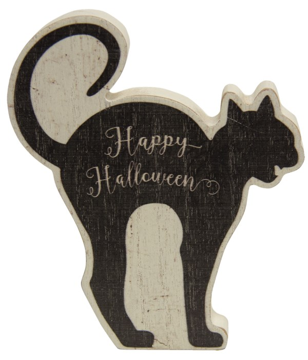 Happy Halloween Black Cat Chunky Sitter