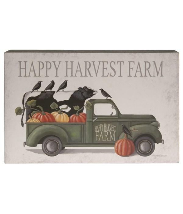 Happy Harvest Farm Truck Box Sign