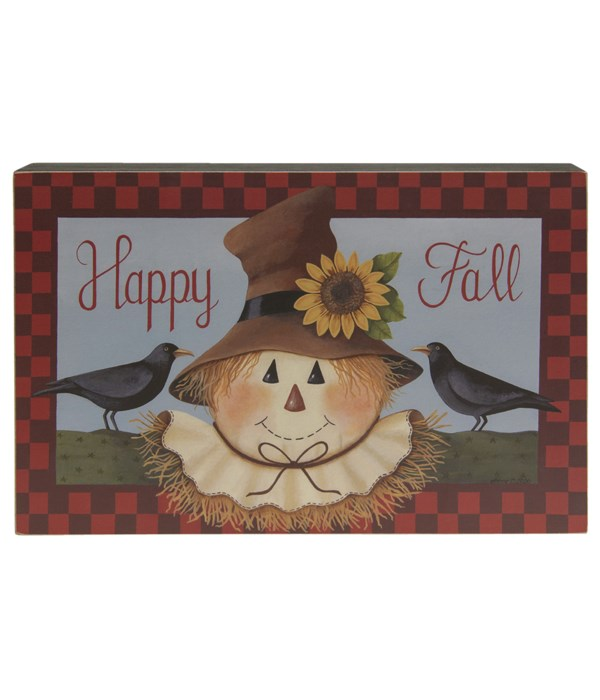 Happy Fall Scarecrow Box Sign