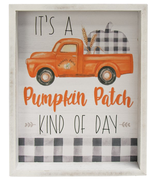 Pumpkin Patch Kind Of Day Inset Box Sign