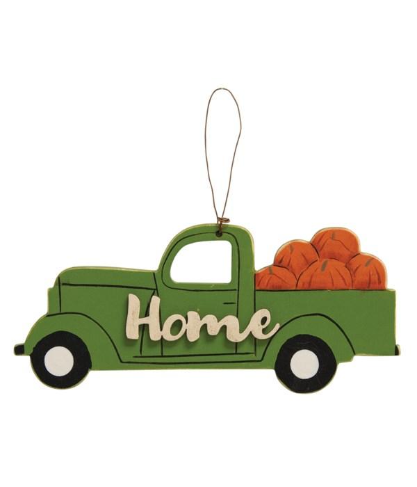 Home Pumpkin Truck Ornament