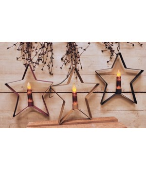 Whimsical Hanging Star 4  Taper Holder, 3 Asstd. 8 1/2  x 9 1/2  in.