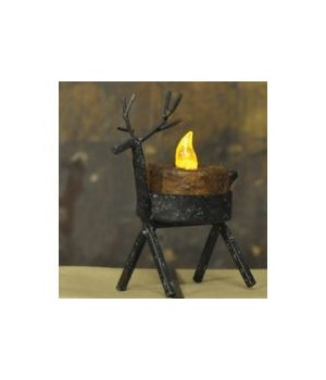 Reindeer Tealight Holder - Large 4.5  x 3.5  in.