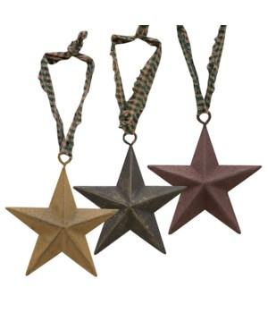 Primitive Hanging Star, 3 , 3 Asstd. 3 in.