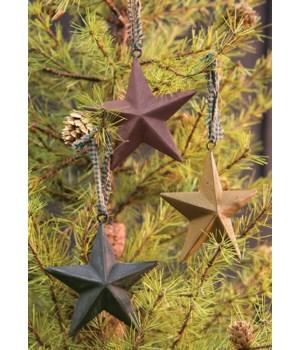 Primitive Hanging Star, 4 , 3 Asstd. 4 in.