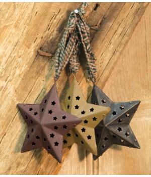 Cutout Star Ornaments 3   3asst. 3 in.