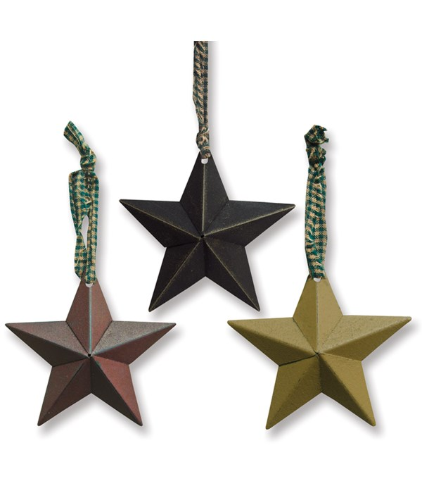 Hanging Accessory Star Ornament, 3 Asstd. 5 in.