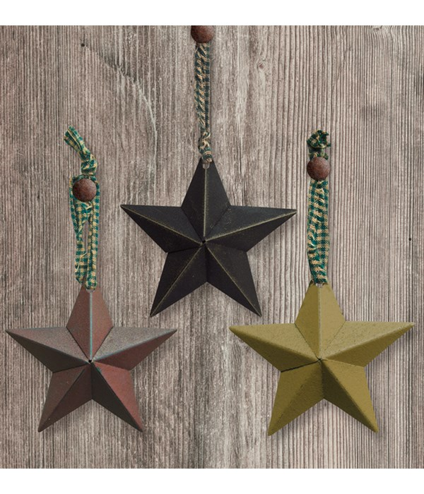 Hanging Accessory Star Ornament, 3 Asstd. 8 in.