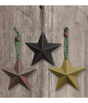Hanging Accessory Star Ornament, 3 Asstd. 3.75 in.