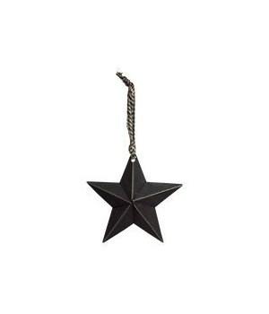 Primitive Hanging Star, Black 5 in.